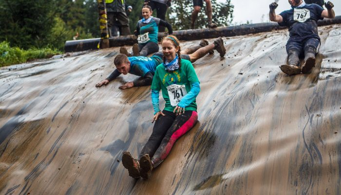 Mud Run Obstacles Slide